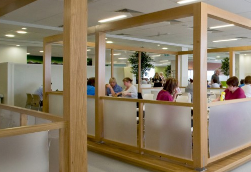 Forth Valley Hospital Food Service Area designed by Chapel Consultants